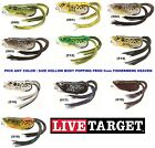 Live Target Frog Popper Soft Hollow Body Topwater Any Color Size FHP Kopper Lure
