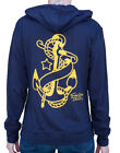 Women's Anchor by Tennessee Dave Old School Tattoo Light Weight Navy Hoodie