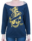Women's Anchor by Tennessee Dave Old School Tattoo Sweatshirt Style T-Shirt