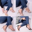 Womens Barely There Summer Party Sandal High Heel Stilletto Ladies Shoe Size