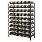 Freestanding Metal Wine Rack Four Steel Sizes Models - Home Iron Decor Storage