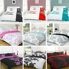 Duvet Cover with Pillow Case Quilt Cover Bedding Set All Size Single Double King