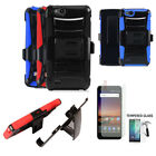 Phone Case For ZTE Blade Vantage / Tempo X Tempered Glass Screen Holster Cover