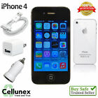 Apple iPhone 4 Smartphone - 8GB 16GB 32GB 64GB AT&T Verizon Unlocked - GSM CDMA
