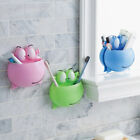 Wall Mount Suction Cup Toothpaste Storage Rack Home Bathroom Toothbrush Holder