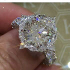 925 Silver White Sapphire Birthstone Engagement Wedding Jewelry Ring New SZ 6-10