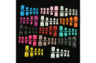 100 pcs Toe Whole Nails with Glue - 14 Colours to choose from
