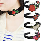 Women Jewelry Cloth Flower Embroidery Collar Choker Chain Fashion Necklace