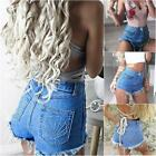 Vintage Sexy  Womens Denim Jeans High Waisted Shorts Jeans Hotpants Loose Casual