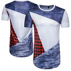 Slim Fit Casual T-shirt Tops Blouse Short Sleeve Men's Muscle Tee Shirts O1985