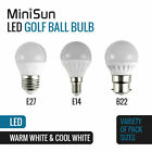 MiniSun Energy Saving LED Light Bulb GLS Candle Globe E27 B22 E14 Lightbulb A+