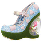 Irregular Choice Forbury Gardens Womens Blue Pink Synthetic Wedges