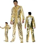 Costume Carnevale Elvis Presley Oro Gold Records *08888