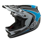 2018 Troy Lee Designs TLD D3 Carbon Fiber Mirage Helmet Blue Mountain Bike