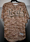 CINCINNATI REDS MLB OFFICIAL MAJESTIC COOL BASE CAMO TACKLE TWILL JERSEY NWT