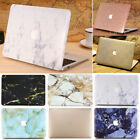 """Silky Leather Gold/ Marble Matte Hard Case  for MacBook Pro 15"""" A1286 w/ CD-Rom"""