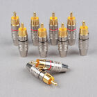 audio plug adapters - New -Li11 RCA Male Plug Solder Free Gold Audio Video Adapter Connector Wholesale