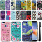 """For Huawei Honor 7X 5.93"""" Design Slim HARD Protector Back Case Phone Cover + Pen"""