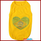 Pet Dog Clothes T-Shirt BRASIL Flag - XXS,XS,S,M,L,XL