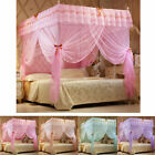 4 Corner Post Bed Curtain Canopy Mosquito Netting Canopies Twin Full Queen King image