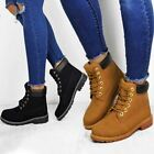Womens Ladies Lace Up Shoes Combat Army Boots Military Grip Hiking Walking Comfy