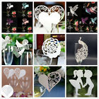 Hot! 50Pcs Name Place Cards For Wedding Party Table Wine Glass Decoration Lot *