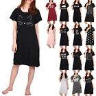 Women Short Sleeve Sleep Shirt Tee Pajama Top Sleep Dress Nightgown Nightshirt