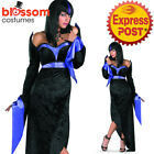 CA677 Ladies Gorgeous Goth Vampire Evil Sorcerers Halloween Fancy Dress Costume