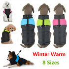 Winter Warm Dog Clothes Padded Coat Pet Vest Jacket Waterproof for Dogs 8 Sizes
