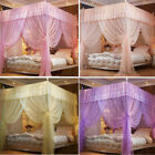 4 Corners Princess Bed Nets Curtain Canopy Mosquito Netting No/With Frame(Post) image