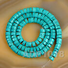 Stabilized Turquoise Gemstone Heishi Loose Beads 16'' 3mm 4mm 6mm 8mm 10mm 12mm