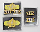 Star Trek Movies Cream & Gold Version Commander Rank Pins in Display Case on eBay