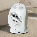 Sensio Home 2kw Portable Fan Heater Oscillating Adjustable Thermostat Cold Blow