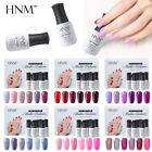6pcs Gel Nail Polish Set HNM Wine Red Pink Nude Color Series