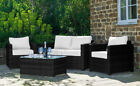 Conservatory 4 Piece Set Rattan Sofa Garden Furniture Patio Set Table Chair
