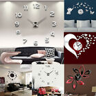 3D DIY Wall Clock Fashion Mirror Sticker Living Room Home Modern Decoration Hot