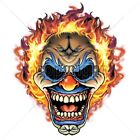 Flaming Clown Size 2 X Large-7 X Large Mens Tank Tops