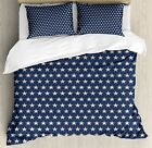 Ambesonne Star Queen Size Duvet Cover Set, Patriotic Star of the American Flag