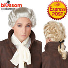 W579 18th Century Peruke Costume Wig Historical Judge Colonial Lawyer Barrister