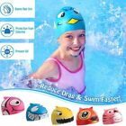 Kyпить Protective Elastic Silicone Cartoon Swimming Caps Swim Hat for Kids Children на еВаy.соm