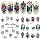 3D Lolita Punk French Butterfly Flower Nail Art Water Decal Transfer Stickers