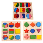 Внешний вид - Kids Baby Wooden Geometry Educational Toys Puzzle Montessori Early Learning