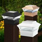 Black/Bronze/White Outdoor Garden Post Deck Cap Square Fence Solar Led Lights