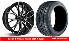 Alloy Wheels & Tyres 7.5x17 GEN2 Axiom 5 Black Polished Face + 2255017 Tyres