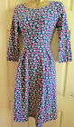 Seasalt navy Woodcut Bloom Mouls dress organic cotton jersey sizes 8 to 18