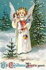 Crazy Quilt Block Vintage Christmas Angel Multi Szs FrEE ShiPPinG WoRld WiDE (C6