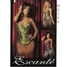 Tesa Corset by Escante Lingerie Mocha Brown Zip-Up Front Size 34 Med Style 93125