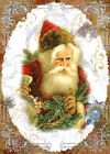 Whimsy Dust Christmas Santa Holly Quilt Block Multi Sz FrEE ShiP WoRld WiDE (WD9
