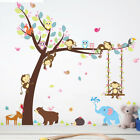 Cartoon Animals Baby Children Wall Stickers Home Living Room Art Decal For Study