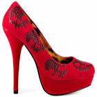 IRON FIST SUGAR HICCUP RED PLATFORM SHOES